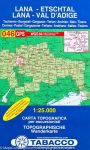 046. Lana - Val d Adige, Lana-Etschtal turista térkép Tabacco 1: 25 000