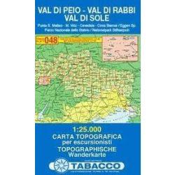 048. Val Di Peio térkép - Val Di Rabbi - Val Di Sole turista térkép Tabacco 1: 25 000