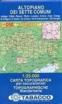 050. Altopiano Dei Sette Comuni turista térkép Tabacco 1: 25 000