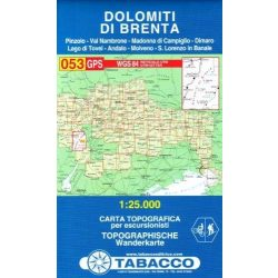 053. Dolomiti di Brenta turista térkép Tabacco 1: 25 000