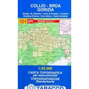 054. Collio, Brda, Gorizia, Hiking map of Gorizi turista térkép Tabacco 1: 25 000   TAB 2554