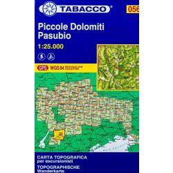 056. Hiking map of Piccole Dolomiti Pasubio turista térkép Tabacco 1: 25 000