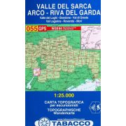 055. Hiking map of the Sarca Valley, Arco and Riva del Garda turista térkép Tabacco 1: 25 000