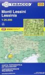 059. Monte Lessini turista térkép Tabacco 1: 25 000