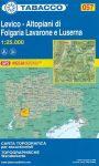 057. Levico - Altopiani di Folgaria Lavarone e Luserna turista térkép Tabacco 1: 25 000