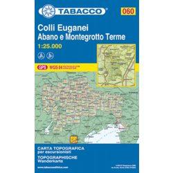 060. Colli Euganei Abano e Montegrotto Terme turista térkép Tabacco 1: 25 000