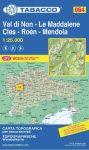 064. Val di Non turistatérkép – Le Maddalene – Cles – Roén – Mendola turistatérkép Tabacco 1: 25 000    Valli di Cembra e dei Mocheni
