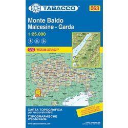 063. Monte Baldo, Malcesine, Garda turistatérkép Tabacco 1: 25 000    Valli di Cembra e dei Mocheni
