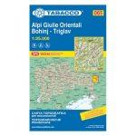065. Alpi Giulie Orientali, Keleti Júliai-Alpok, Bohinj, Triglav turista térkép Tabacco 1: 25 000   2016