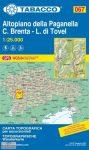 067. Altopiano della Paganella-C.Brenta-L.di Tovel turista térkép Tabacco 1: 25 000   2017