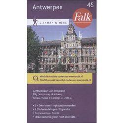 Antwerpen térkép Falk