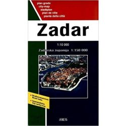 Zadar térkép Forum 1:10 000, 1:150 000  2014