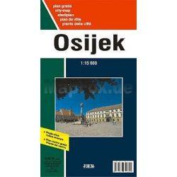 Eszék térkép Eszék és környéke, Osijek térkép Fórum kiadó 1:15 000  1:125 000  2008