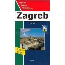 Zágráb térkép Forum 1:20 000  2008