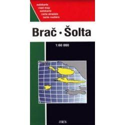 Brac, Solta turista térkép Forum 1:60 000