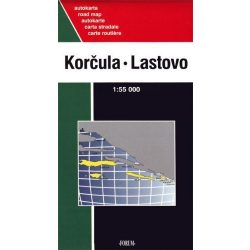 Korcula térkép, Korcsula, Lastovo, Mljet, Sipan, Lopud, Kolocep térkép Forum 1: 55000