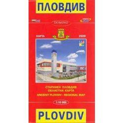 Plovdiv térkép Domino 1:11 500