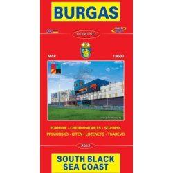 Burgas térkép Domino  1:8 500   2015