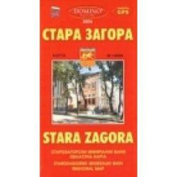 Stara Zagora térkép Domino 1:7 900
