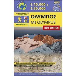 Olympus térkép Anavasi, Olympos turista térkép 1:25 000  Olympos hegymászó térkép