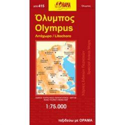 Olympus térkép Orama, Olympos turiata térkép 1:75 000