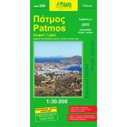 Patmos térkép Orama 1:30 000
