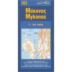 103. Mykonos térkép Road Editions 1:40 000