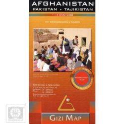Afganisztán, Pakistan, Tajikistan térkép Gizi Map 1:3 000 000