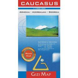Kaukázus térkép Gizi Map autós térkép 1:1 000 000
