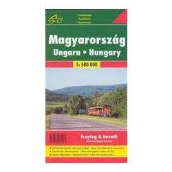 Magyarország térkép puhaborítóban, 1:500 000  Freytag térkép AK 10P 2017