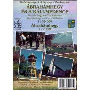 Ábrahámhegy és a Káli-medence térképe Schwarcz 2014 1:30 000, 1:7500