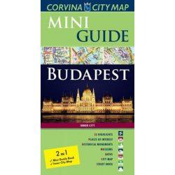 Budapest térkép, Budapest Mini Guide angol Corvina 2015  1:11 500