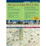 Magyarország térkép, Magyarország várai és kastélyai térkép, Magyarország templomai és kolostorai - duó térkép Corvina 2015