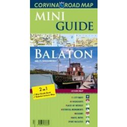 Balaton térkép, Balaton útikalauz és térkép Balaton Mini Guide Corvina 2016