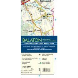 Balaton térkép, Balaton és környéke térkép 1: 125 000  Corvina 2016