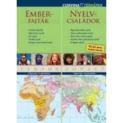 Emberfajták, Nyelvcsaládok világ országai térkép, világ térkép Corvina 2016