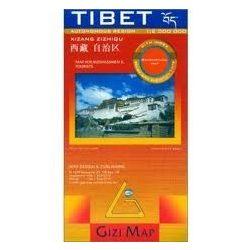 Tibet térkép domborzati Gizi Map 1:2 000 000