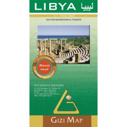 Líbia térkép Gizi Map 1:1 750 000