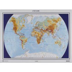 Világ dombortérkép, Föld dombortérkép MH.   55x48 cm 1 : 70 000 000