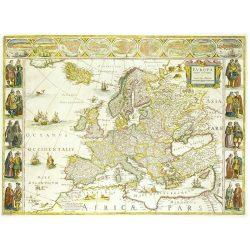 Európa falitérkép antikolt MH. Európa 1640. körül 109x84 cm