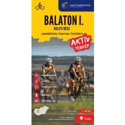 Balaton turistatérkép, aktív térkép I. Balaton szabadidőtérkép - keleti rész 1:100 000 Cartographia 2017 Balaton térkép