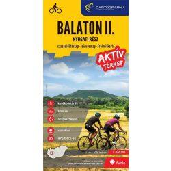 Balaton turistatérkép, aktív térkép II. Balaton szabadidőtérkép - nyugati rész 1:100 000 Cartographia 2018 Balaton térkép