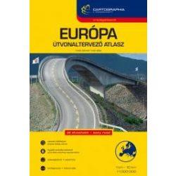 Európa atlasz, útvonaltervező Cartographia 1:1 000 000
