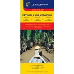 Vietnam, Laosz, Kambodzsa térkép Cartographia 1:6 000 000  2011 Vietnam térkép