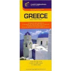 Görögország, Albánia autótérkép  Cartographia  1:1 300 000