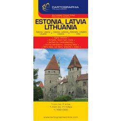 Észtország, Lettország, Litvánia autótérkép Cartographia 1:700 000