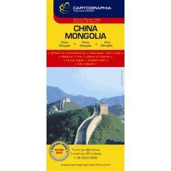 Mongólia, Kína térkép Cartographia 1:6 000 000