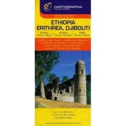 Etiópia térkép Cartographia 1:2 500 000