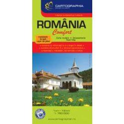 Románia térkép Comfort Cartographia Románia térkép laminált 1:750 000  2018