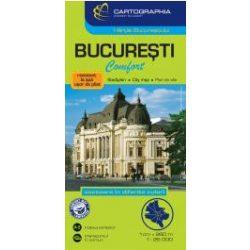 Bukarest térkép Cartographia Comfort Map fóliás 1:20 000  2016